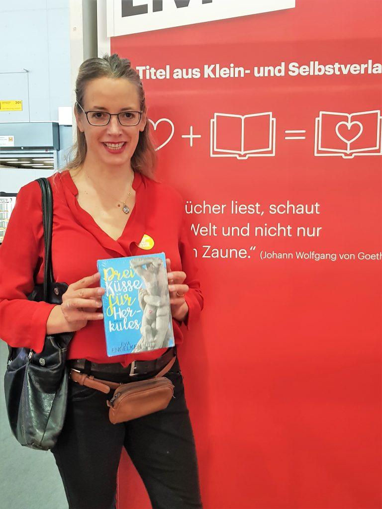 Eva Engelken mit Drei Küsse für Herkules auf Frankfurter Buchmesse 2018